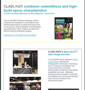 CLADLINER February Newsletter